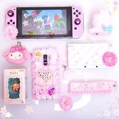 """I didn't like the pic I posted earlier, so have this one instead 💖 I'm really excited to play the new Octo Expansion later! Octolings are SOOO cute! My phone case is by and you can get off your order with my code """"momotokio"""" 🎀 Ipod, My Mini Mixieqs, Kawaii Games, Nintendo Switch Accessories, Kawaii Bedroom, Otaku Room, Gaming Room Setup, Gaming Rooms, Girly"""