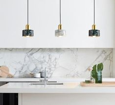 $179.90 Minimalist meets modern Luxury. These Modern Marble Pendant Light exudes a luxurious charm that is bound to captivate its owner.  Shop more of the latest home interior and decor trends at COZICAZA SHOP