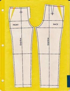 Cómo hacer los patrones para un pantalón y sus posibles modificaciones, en función de la primera prueba con muselina.