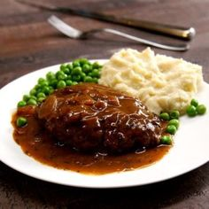 Our traditional Salisbury steak with onion gravy tastes just like you remember--unless you remember it from frozen TV dinners, in which case ours is way better.