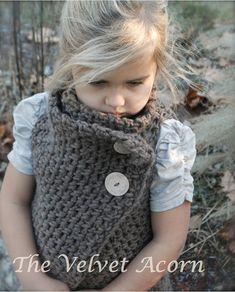 CROCHET PATTERN Adelaide Wrap Toddler Child di Thevelvetacorn