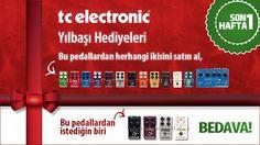 TC Electronic'in belirlenen 11 adet pedalından herhangi 2 tanesini satın aldığınızda seçeceğiniz 1 pedal hediye olarak geliyor. Daha fazlası ve ayrıntılar için;  http://www.gitarpazar.com/rehber/TC-Electronic-Yilbasi-Hediyeleri