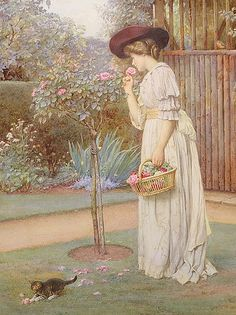 The Vicar's Rose Garden by Charles Edward Wilson