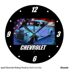 1946 Chevrolet Pickup Truck Large Clock