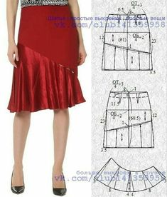 Dress Making Patterns, Skirt Patterns Sewing, Circle Skirt Tutorial, Sleeves Designs For Dresses, Fashion Sewing, Sewing Clothes, Dressmaking, Pattern Fashion, Blouses For Women