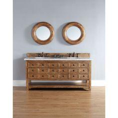 James Martin Brown 72-inch Double Bathroom Vanity (No Top), Size Double Vanities