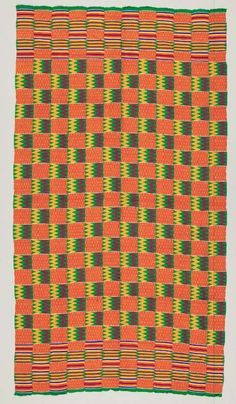 Africa | Wrapper ~ Kente ~ from the Asante people of Ghana | ca. 1975.