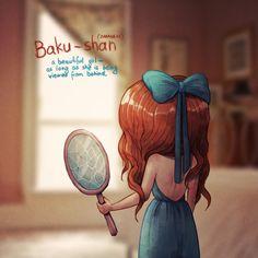 Baku-Shan, do Japonês: Uma garota que é bonita desde que você só a veja de costas.