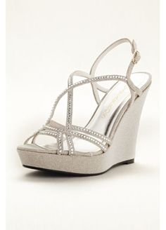 a39946dbb081 Spice up your look with these dazzling high heel wedges! Caparros strappy  high heel wedge sandals with crystal embellisment. Heel height  Fully lined.