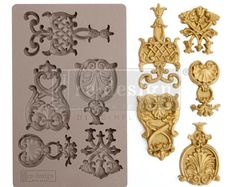 5 x 8 inches: Embellishment Applique for your furniture, walls, crafting projects and more with our redesign decor moulds. Our heat resistant Silicone moulds offer endless creativity with unique & detailed pieces Resin Molds, Silicone Molds, Silicone Rubber, Decoration, Art Decor, Paint Companies, Dixie Belle Paint, Prima Marketing, Paperclay