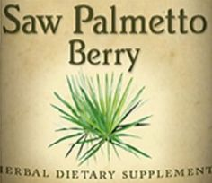 SAW PALMETTO Berry Tincture Tonic
