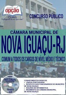 Apostila - COMUM A TODOS OS CARGOS DE NÍVEL MÉDIO E TÉCNICO - Câmara Municipal de Nova Iguaçu-RJ