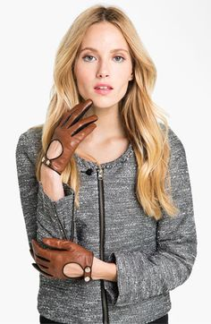 Ted Baker London Button Leather Gloves | Nordstrom