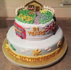 Retirement Theme Cake