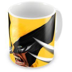 Caneca Personalizada Art Marvel Wolverine Amarelo