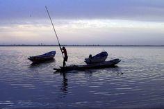 Début de soirée sur le delta du Sine Saloum, au Sénégal