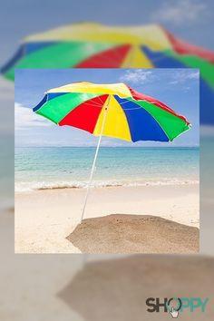 Sombrilla Para Playa De Colores Sombra Verde Rojo Colores