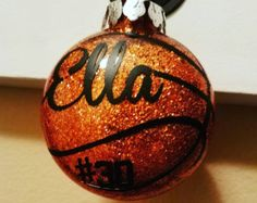 Personalized Basketball Ornament Hand-Painted by ShopMetamora