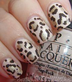 Matte Leopard Nail Art