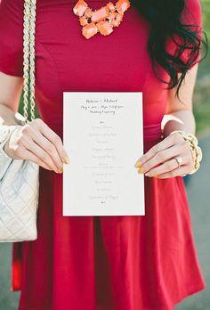 Unique Wedding Ceremony Programs   Brides