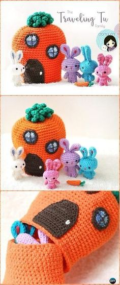 Amigurumi Crochet The Traveling Tu Family Free Pattern - Crochet Amigurumi Bunny Free Patterns