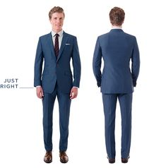 Proper jacket length+perfect suit, right?