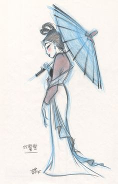 Character Designs from Mulan by Chen-Yi Chang - Disney Concepts & Stuff