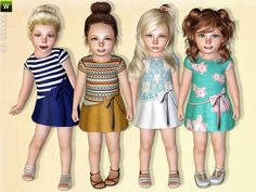 Sims 3 / Hello Sunshine Dress - Lillka / Toddler Female