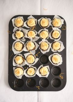Mini Carrot Cakes from Amelia Freer's book Cook. Nourish. Glow. This healthy twist on the classic recipe uses almond flour and coconut milk in the cakes, which are topped with a coconut butter, orange and vanilla icing.
