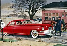 Plan59 :: Classic Car Art :: 1948 Packard by Melbourne Brindle