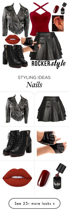 """""""Rocker Style"""" by eule001 on Polyvore featuring Mairi Mcdonald, Lime Crime, rockerchic and rockerstyle"""