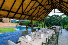 The restaurant at our luxury safari lodge in Matobo National Park.