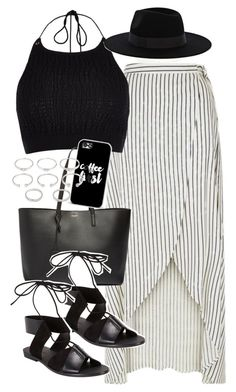 """""""Outfit for Coachella"""" by ferned ❤ liked on Polyvore featuring River Island, Yves Saint Laurent, Casetify, Alexander Wang, Forever 21 and Warehouse"""