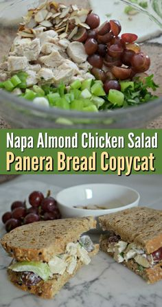 Love Panera's tangy and sweet Napa chicken salad featuring red grapes, almonds, and crunchy celery? Try this easy DIY version at home!