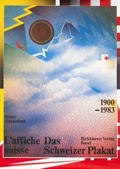 Das Schweizer Plakat (blue) designed by Wolfgang Weingart 1984