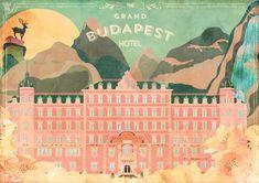 Retro postcard The Grand Budapest Hotel on Behance William Ellis, Claude Monet, Vincent Van Gogh, Paul Klee, Wassily Kandinsky, Gustav Klimt, Vintage Wall Art, Vintage Posters, Wall Art Prints