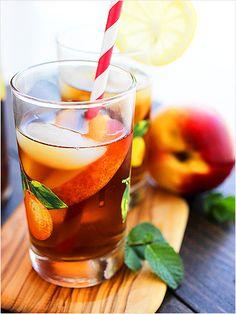 Tipsy Lemonade and Peach Iced Tea: A luscious summer cocktail