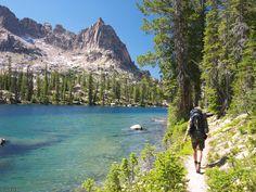 Sawtooth Mountains, Idaho. 7-day backpacking trek through the range, starting from Pettit Lake and ending at Redfish Lake, taking a few detours along the way.