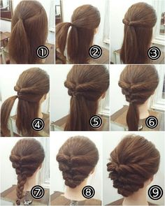 cool braids that are actually easy - Hair - Hair Designs Short Hair Styles Easy, Medium Hair Styles, Curly Hair Styles, Style Long Hair, Hair Medium, Step By Step Hairstyles, Girl Hairstyles, Updos Hairstyle, Hairstyle Ideas