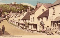 Dunster High Street and Conegar Tower. Some of my ancestors were from Dunster - if you're researching the surname Thomas, do get in touch! esjones <at> btopenworld.com