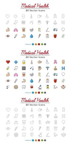 Medical Health Icons. Medical Infographic. $9.00