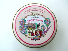 Vintage Quality Street Tin Round Tin with Removable by FrenchCandy