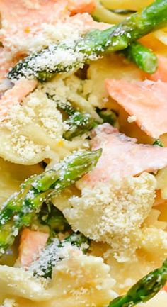 Creamy Pasta with Salmon and Asparagus