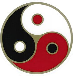 yingyang world triad symbol maybe different color/ meaning combo.. blue red green purple black white