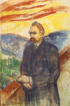"Edvard Munch, ""Portrait of Friedrich Nietzsche"" Munch Museet, Oslo, Norway. Edvard Munch, Friedrich Nietzsche, Oslo, Le Cri, Post Impressionism, Paul Gauguin, Art Graphique, Wassily Kandinsky, Gustav Klimt"