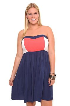 Coral White Navy Color Block Tube Dress $48.50 - Got this dress and I was surprised by the quality, the chest has actual boning where the sweetheart shape peaks to keep the lines straight, the very top line has a silicone band to keep the dress from rolling down and to hug the chest properly. The material is very soft. I am very glad I got this at 50% off!