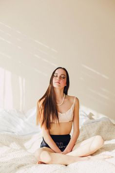 Innocent, Day Dream, Sunlight, In New Zealand Lingerie Label Love Hotel. Fine Art Women's Portraiture Photography By Novella.