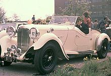 The Lagonda, iconic British car, and the model for the type of thing Jack manufactures