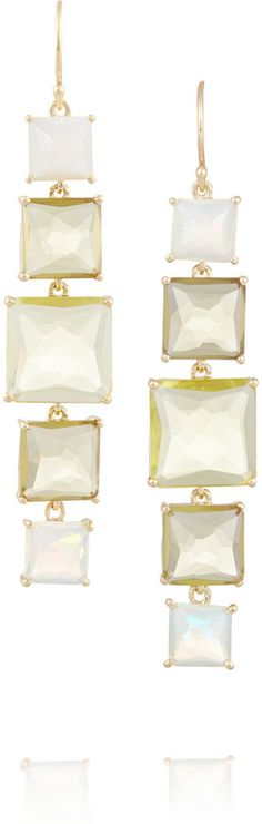 Ippolita Rock Candy Linear 18-karat gold multi-stone earrings