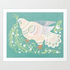 Holiday Dove Art Print